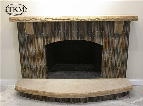 Fireplace With Pencil Slate Sandstone Mantel Hearth Flickr Ph
