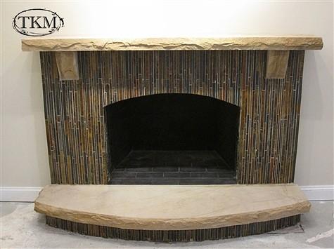 fireplace with pencil slate sandstone mantel hearth flickr photo sharing. Black Bedroom Furniture Sets. Home Design Ideas