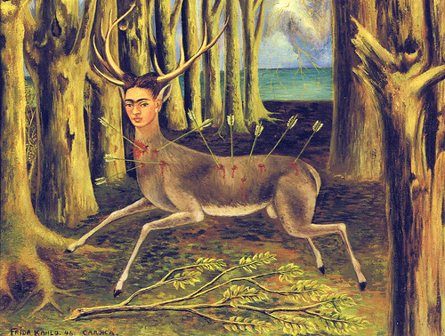 Frida Kahlo - Self-portrait as wounded deer (1946) by petrus.agricola
