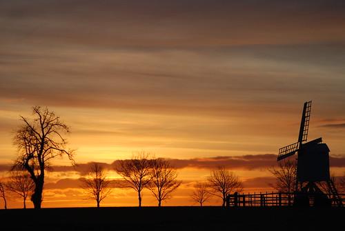 windmill sunrise with