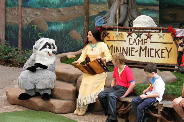 Pocahontas shares a story