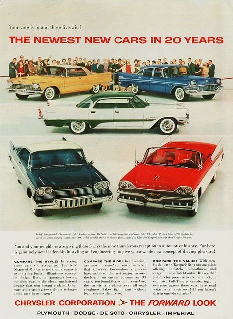 The 1957 Chrysler Corporation Lineup Of New Cars | Flickr - Photo Sharing!
