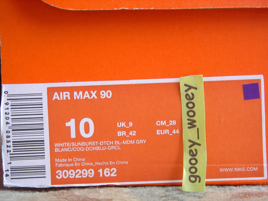 Nike Air Max 90 'White Sunburst Dutch Blue Medium Gr