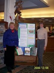 Library display about Community Wildlife Habitat