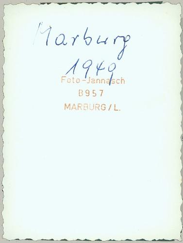 reverse of  B957 Marburg 1949