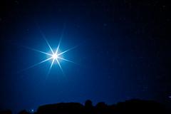[フリー画像素材] 自然風景, 空, 夜空, 月, 星, レンズフレア ID:201109180400