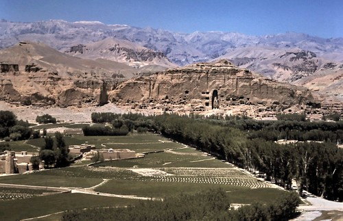 gm_03130 Distant view of Bamiyan Cliffs, Afghanistan 1975