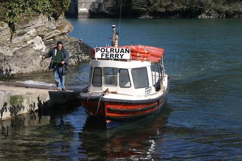 Polruan Ferry, Fowey River, Fowey by Claire Stocker (Stocker Images)