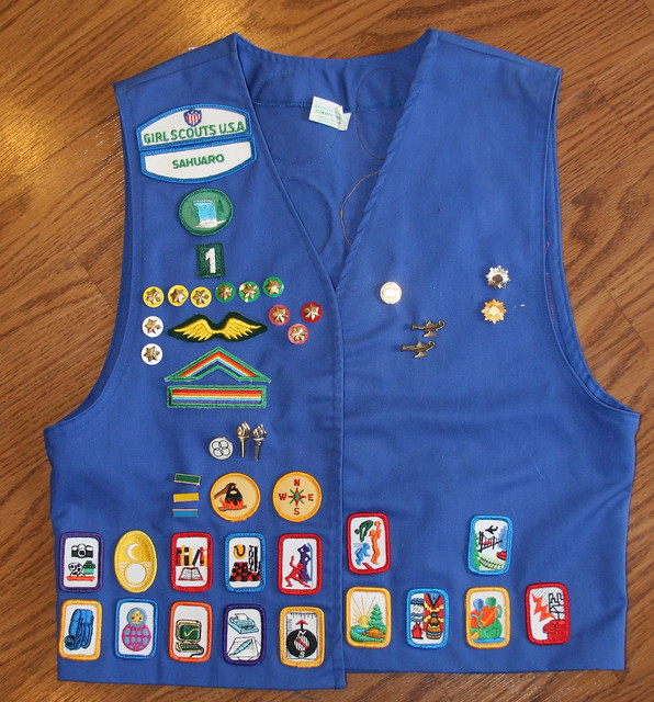 patch placement on girl scout vest