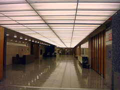 22 Los Angeles Hall of Records - Main Level Hall and Luminus Ceiling (E)