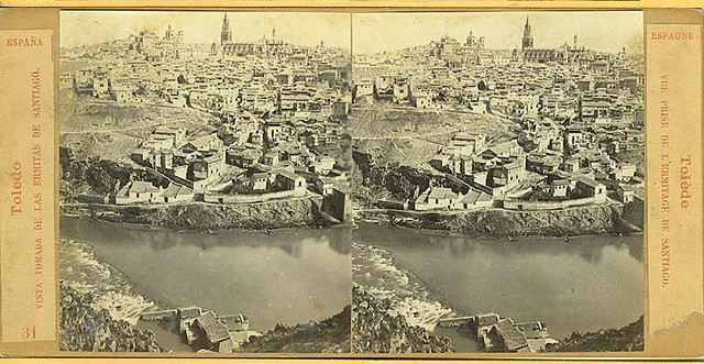 Vista estereoscópica de Toledo hacia 1860 por E. Làmy