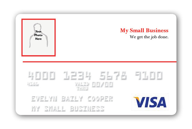 Vistaprint Visa Business credit card Image upload