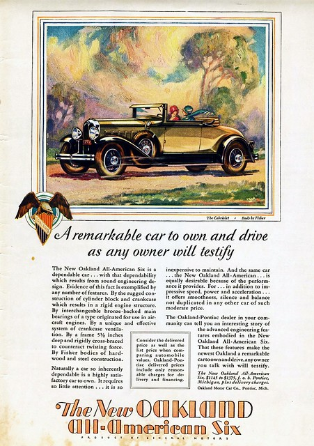 1929 Oakland All-American Six Cabriolet