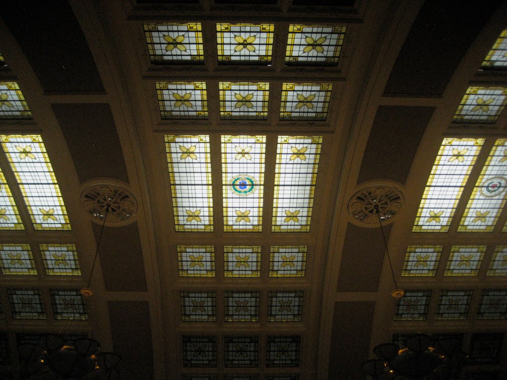 Union Station Worcester MA Stained Glass Ceiling