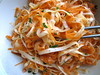 raw carrot & parsnip salad
