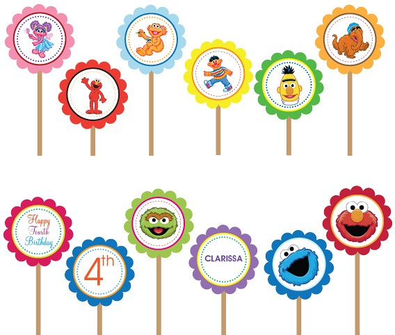 Wonderful Sesame Street Cupcake Toppers Printable Free 500 x 424 · 113 kB · jpeg