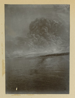 Mt. Pelee: [View of St. Pierre, Martinique, during the eruption of Mt. Pelee]