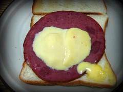 sandwich, meal, breakfast, brunch, meat, food, dish, breakfast sandwich, toast,
