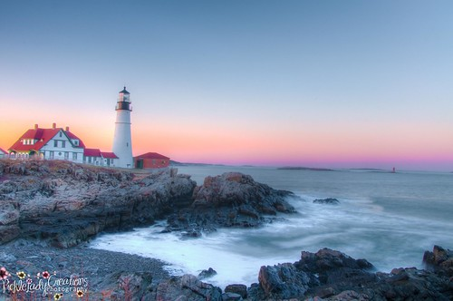 ocean sunset lighthouse portland coast twilight nikon rocks elizabeth head maine scenic shore cape hdr capeelizabeth d90 portlandheadlighthouse greatphotographers colorphotoaward