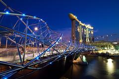 Singapore Double Helix Bridge and Sands Casino
