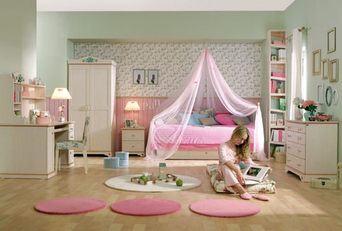 15-Cool-Ideas-for-pink-girls-bedrooms-4-554x373 | by home space