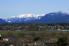 Courtenay and the Comox Glacier in April