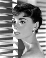 adrey hepburn with short hair