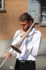 Street Musicians in Rue Neuve, Renens