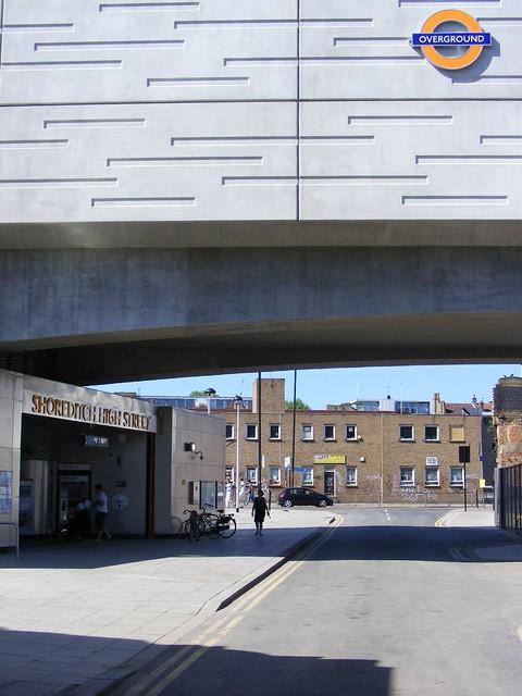 Shoreditch Station: Shoreditch High Street Overground Station. E1