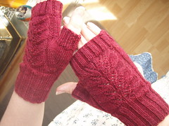 Lacy Knitted Mittens