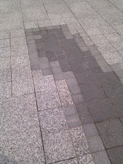 driveway, line, cobblestone, tile, public space, road surface, flooring,
