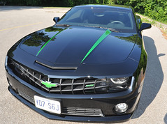 5th Gen Camaro - Black With Synergy Green Highlights