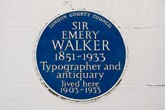 Photo of Emery Walker blue plaque