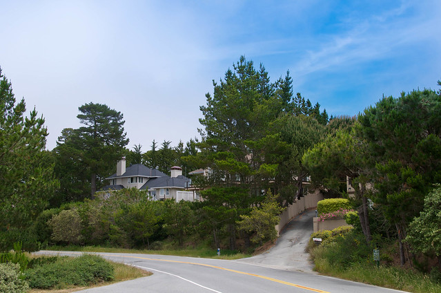 One of the beautiful houses along 17 mile drive in for 17 mile drive celebrity homes