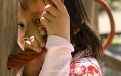shy little girl.
