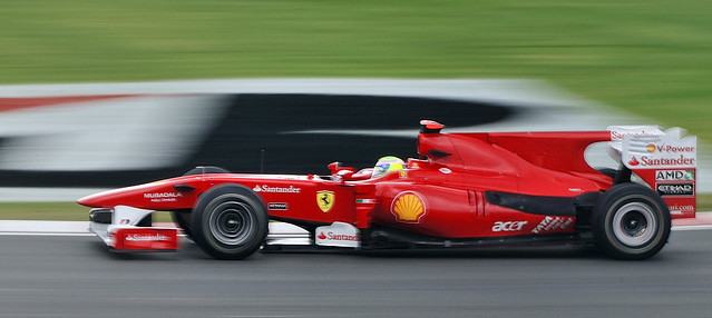 Felipe Massa in his Ferrari