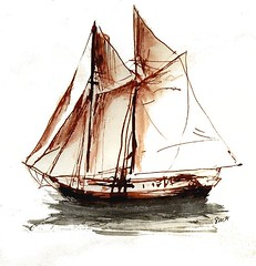 sailboat, schooner, vehicle, ship, galley, windjammer, thames sailing barge, mast, lugger, galeas, tall ship, watercraft, scow, boat, brig, brigantine,