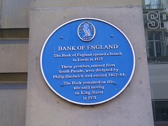 Photo of Bank of England blue plaque