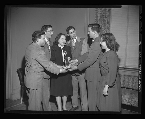Trophy awarded to winners of the competitive events at Connecticut State Jewish Youth Conference, February 26, 1947