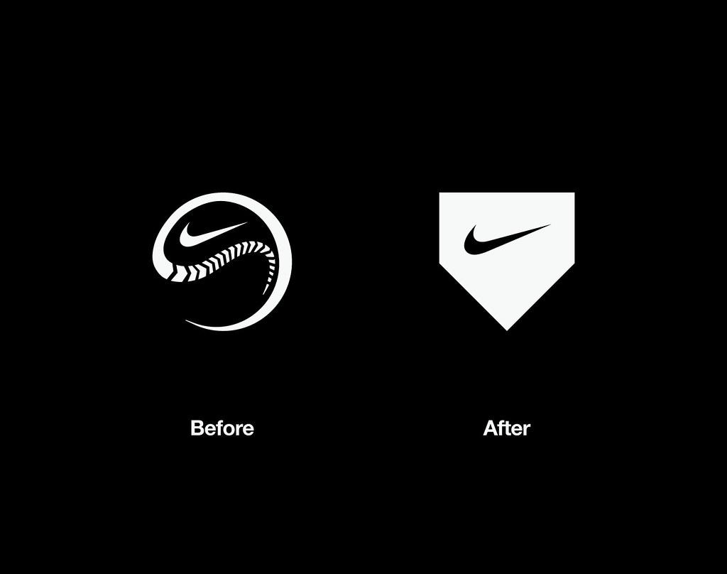 cool nike baseball symbol