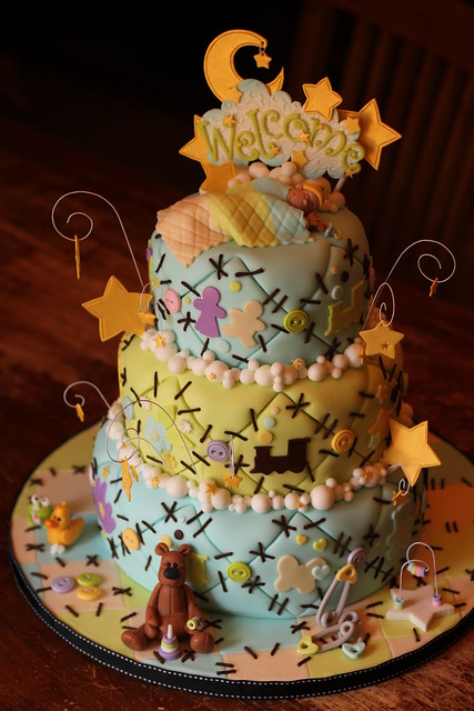 3 tier Welcome Quilt Cake