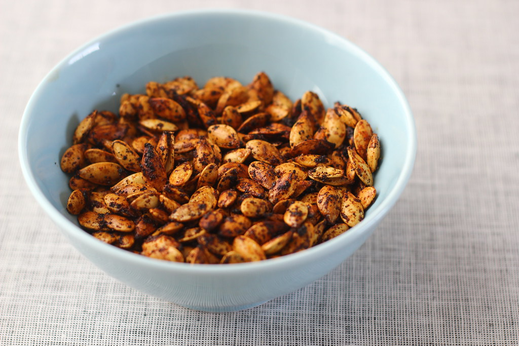 Spiced Roasted Pumpkin Seeds » The Year In Food