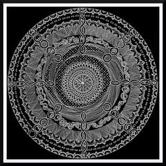 Doodled Zentangle Circle