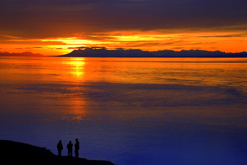 Alaska Anchorage Point Woronzof Sunset Panorama