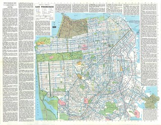 Ride the Muni: Street Map and Transit Map of San Francisco (1979)