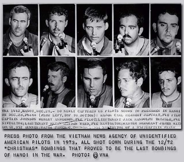 American pilots shot down during the Dec 1972