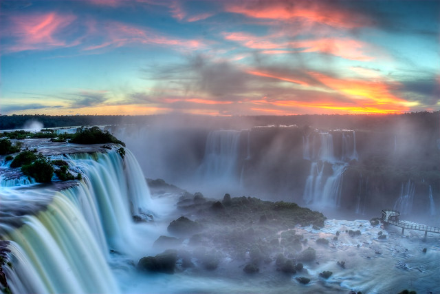 Sunset over Iguazu