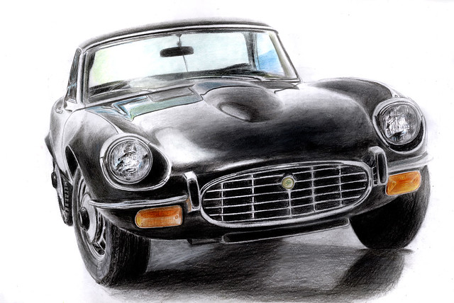 how to draw a jaguar carJaguar Car Drawing