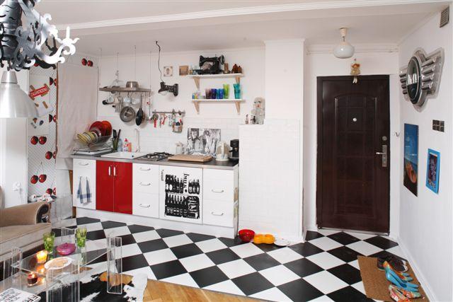 kuchnia  widok z przedpokoju  Flickr  Photo Sharing! -> Kuchnia Kaflowa Z Piekarnikiem