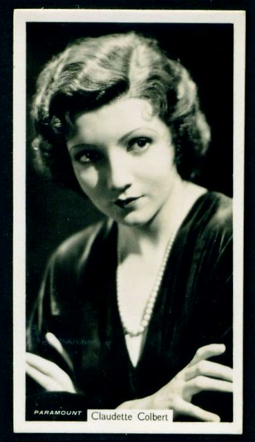 Cigarette Card - Claudette Colbert
